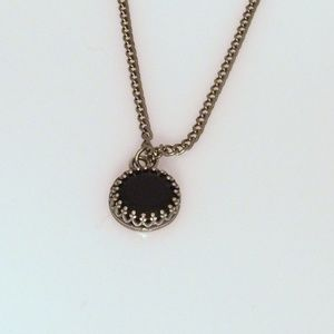 Black Onyx Princess Necklace - Edgy Necklace